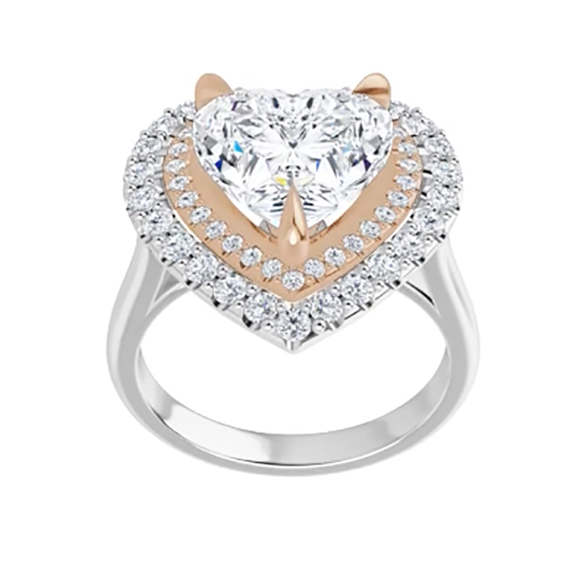 Heart Forever One Halo Micro Pave
