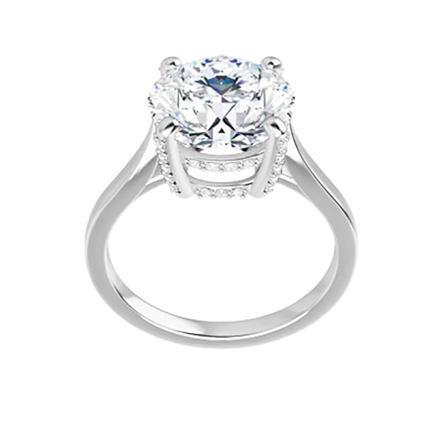 1 30 Ct Moissanite Round Forever One Halo Micro Pave Solitaire Engagement Ring Lkjewelry Designs Moissanite Jewelry Miami